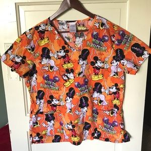 Mickey Mouse Disney Large Scrub Top